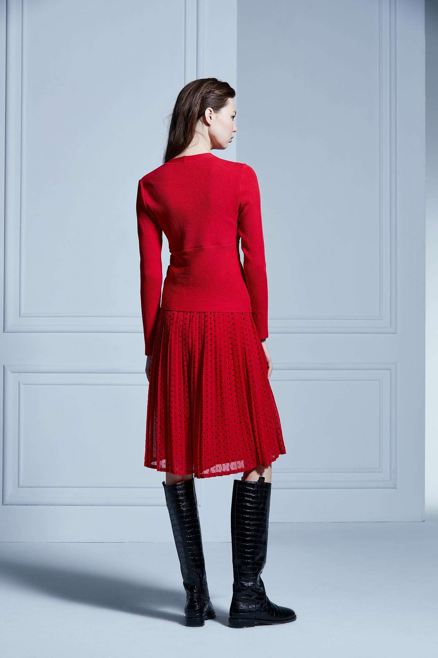 Sexy slim knitwear,V-neck top,knitting,Knitted top,Knitted Top,長袖上衣
