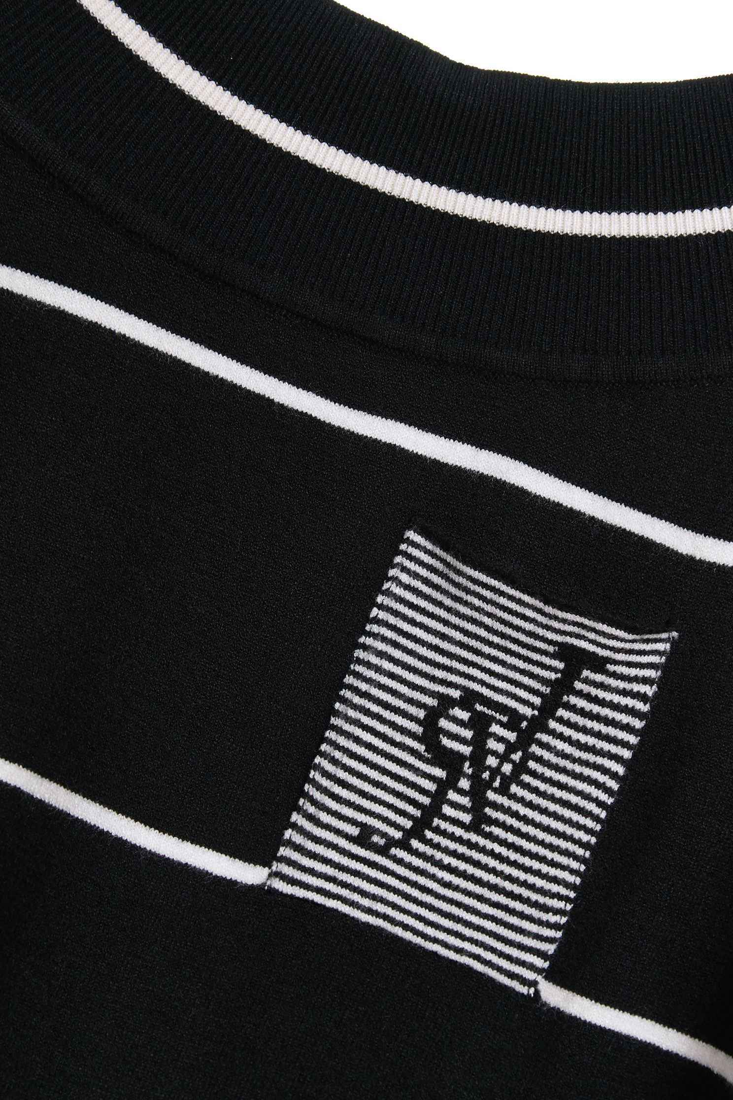 STRIPED Color knit sweater,roundnecktop,knitting,knittedtop,knittedtop,longsleevetop,blacktop