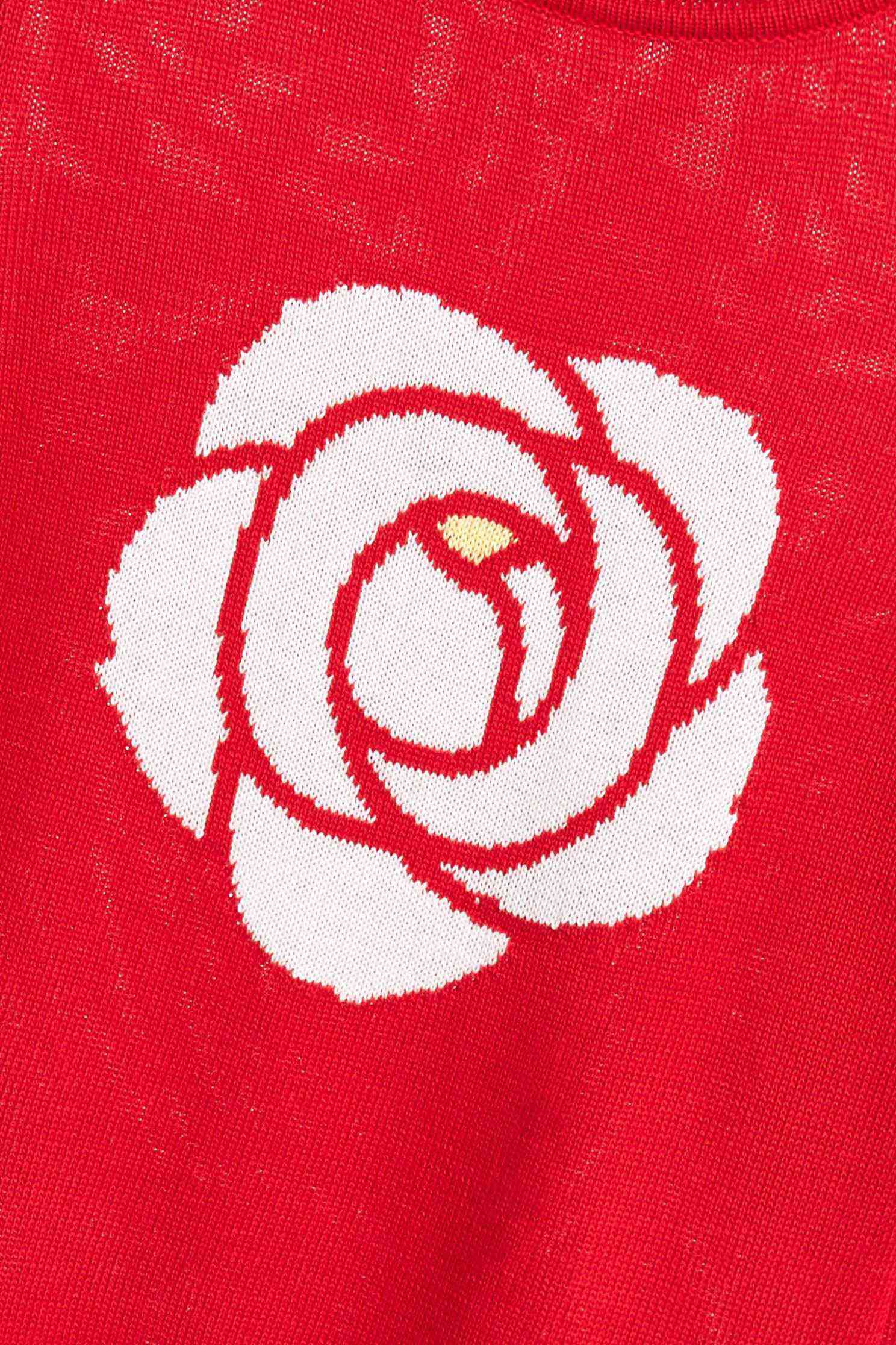 A rose sweater,圓領上衣,knitting,Knitted top,Knitted Top,長袖上衣,黑色上衣