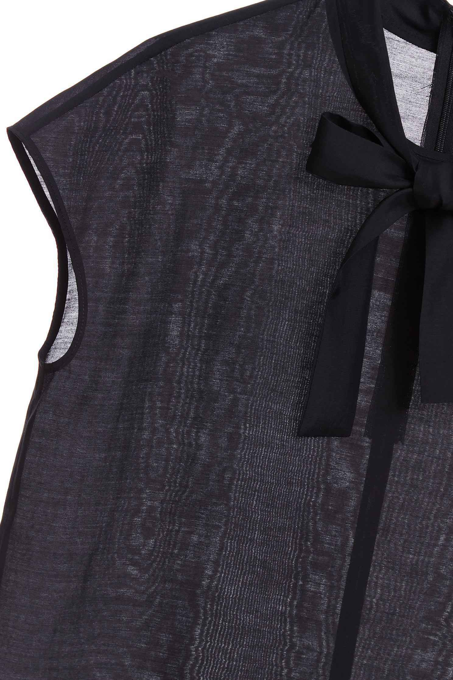 Front collar strap top,top,shortsleevetop,i-select,blacktop