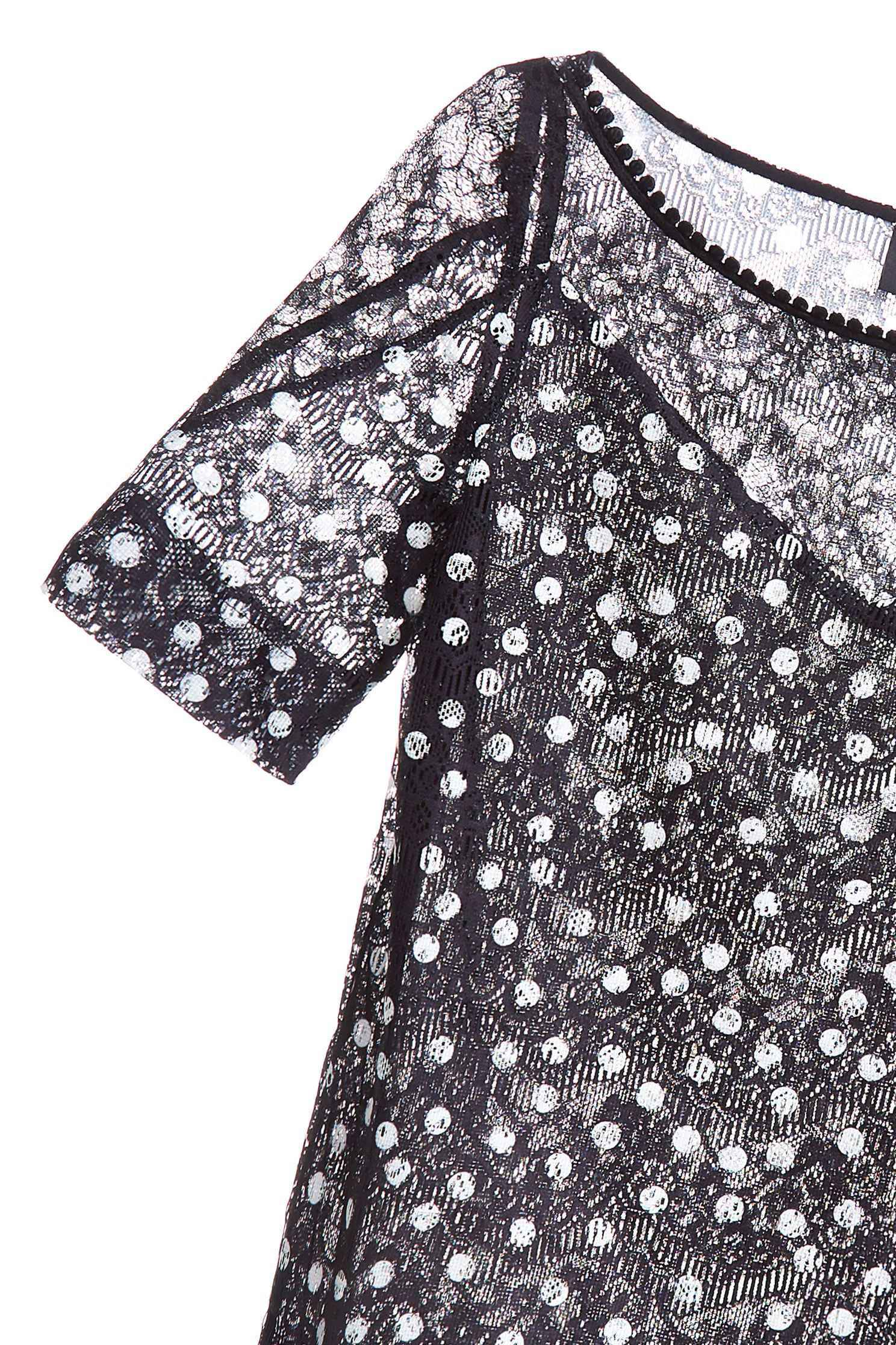 Polka dots lace design top,top,lace,lacedtop,girlfriendsspringtour