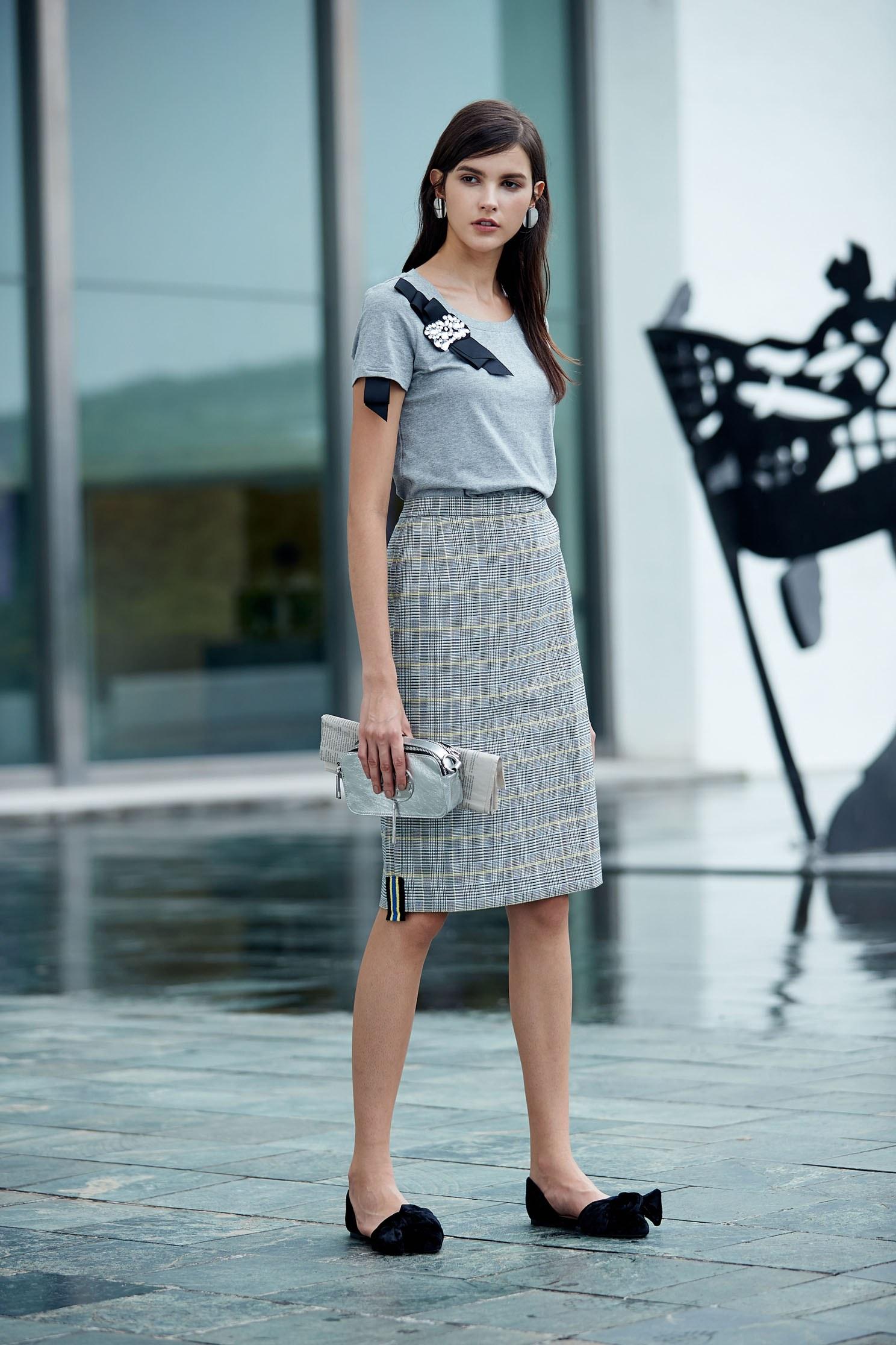 Elegant popular cotton short-sleeved Tshirt,top,shortsleevetop,cotton