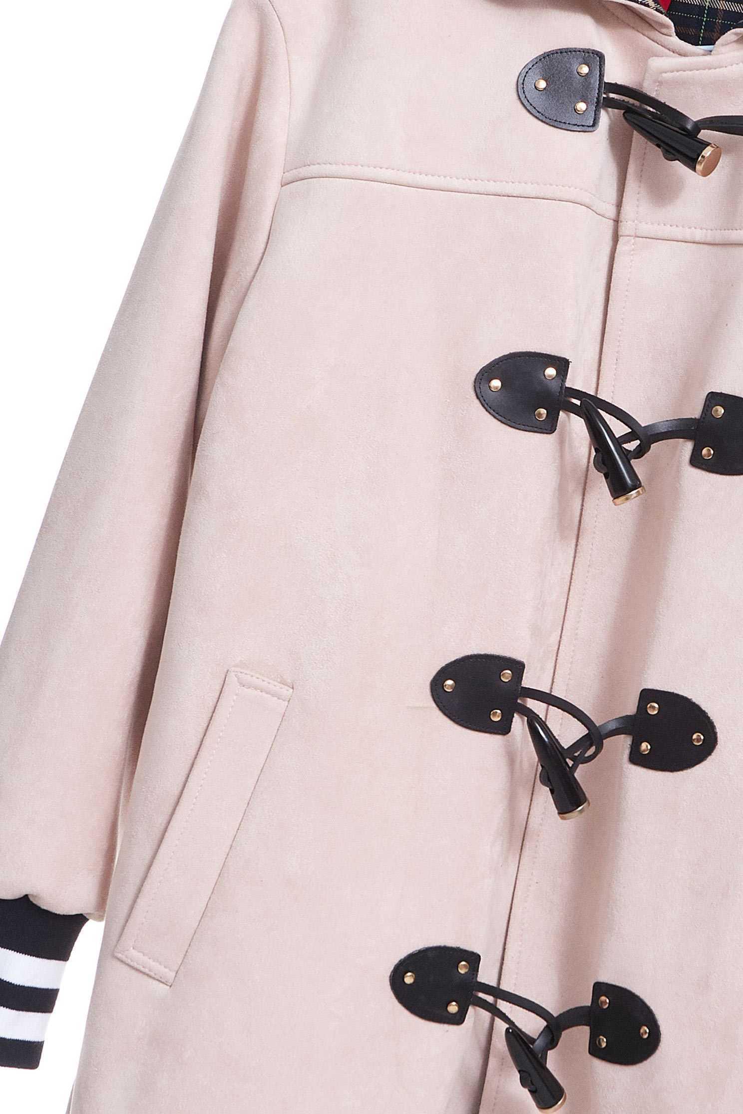 Horn bucklehood coat,jacket,coldforwinter,outerwear,hoodiejacket,longcoat,longsleeveouterwear