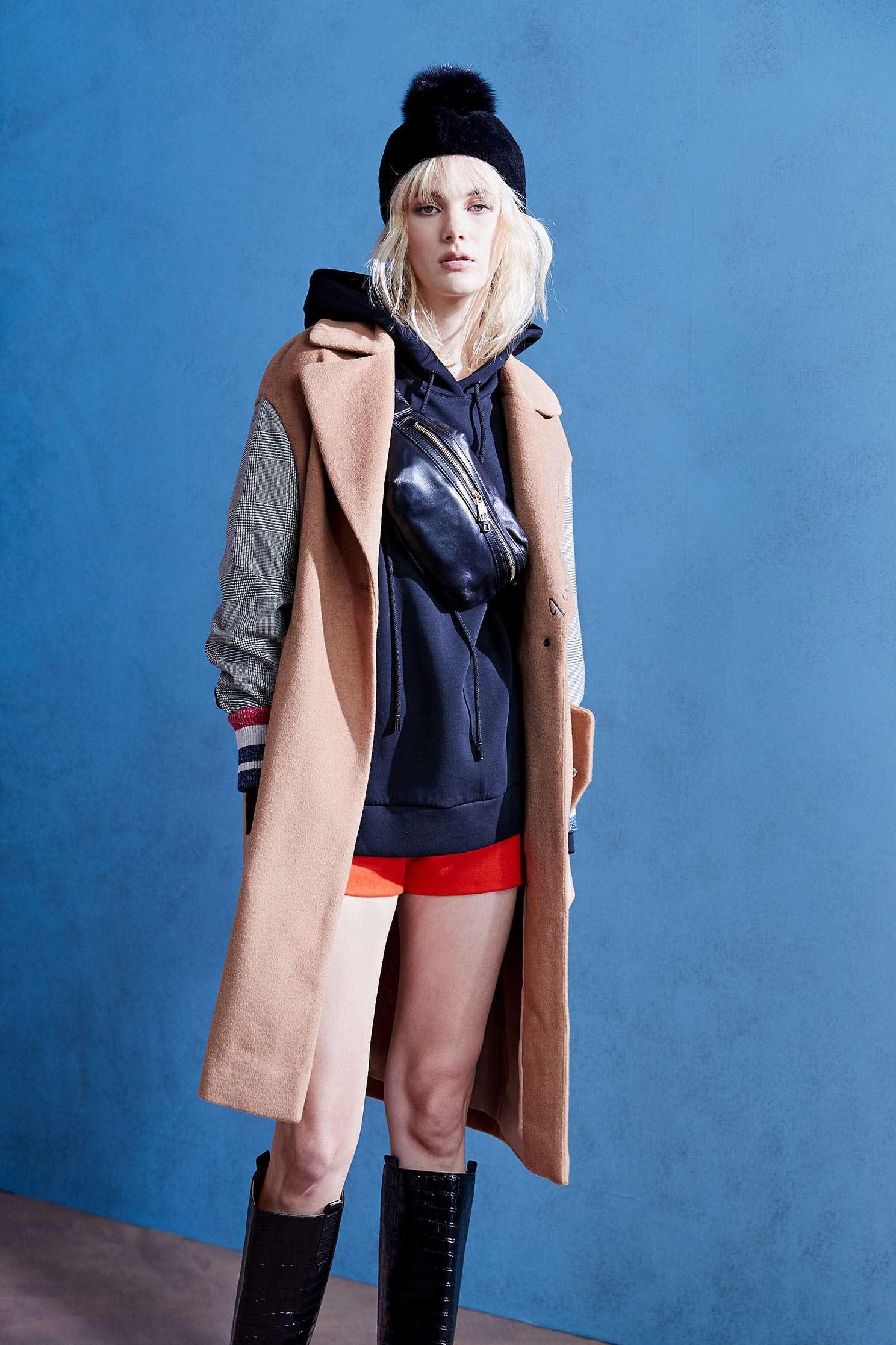 contrast wool coat,外套,Long Coat,long coat,長袖外套,Air Signs