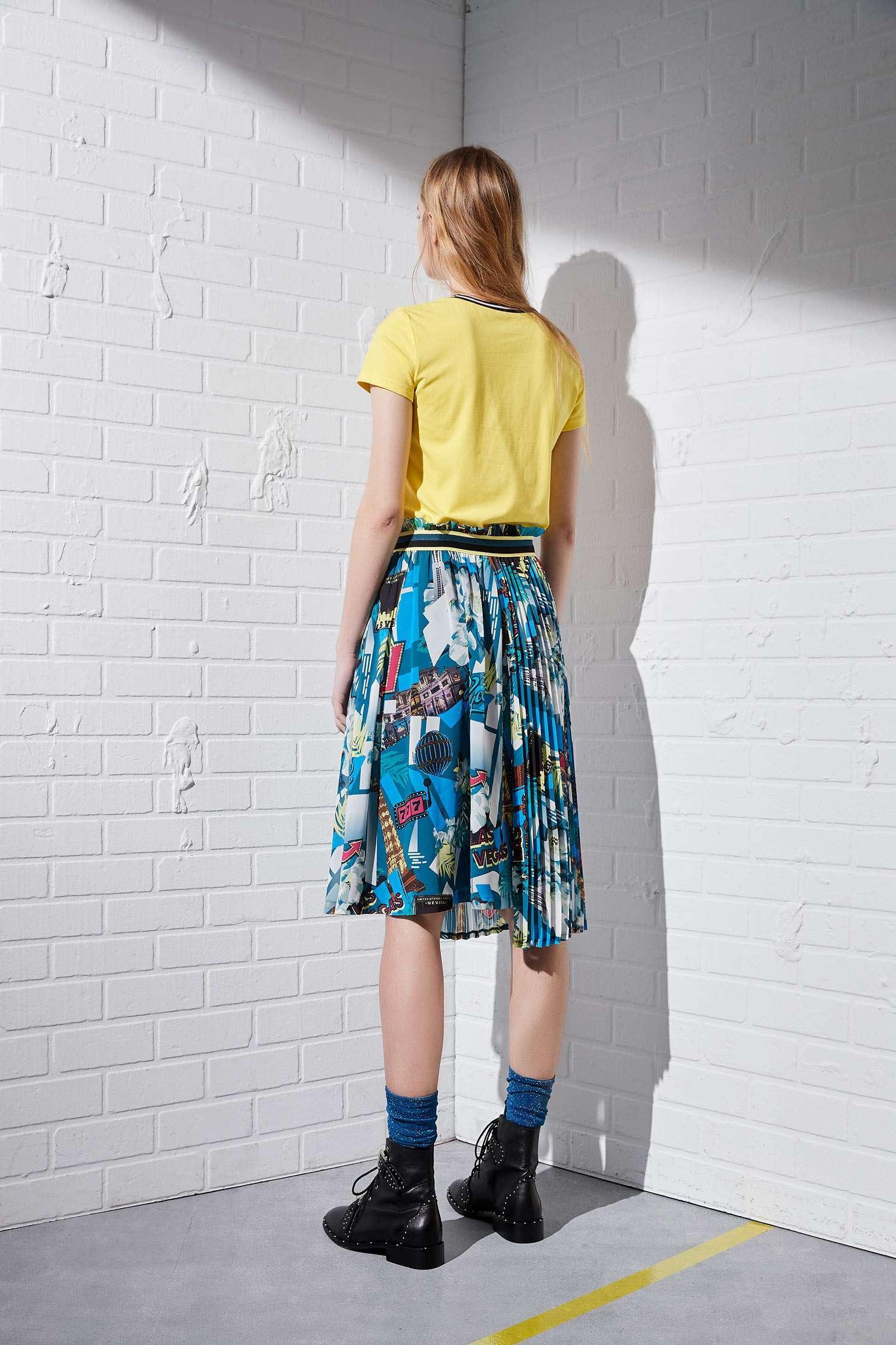 Asymmetrical skirt,Pleated Skirt,i-select,Long Skirt