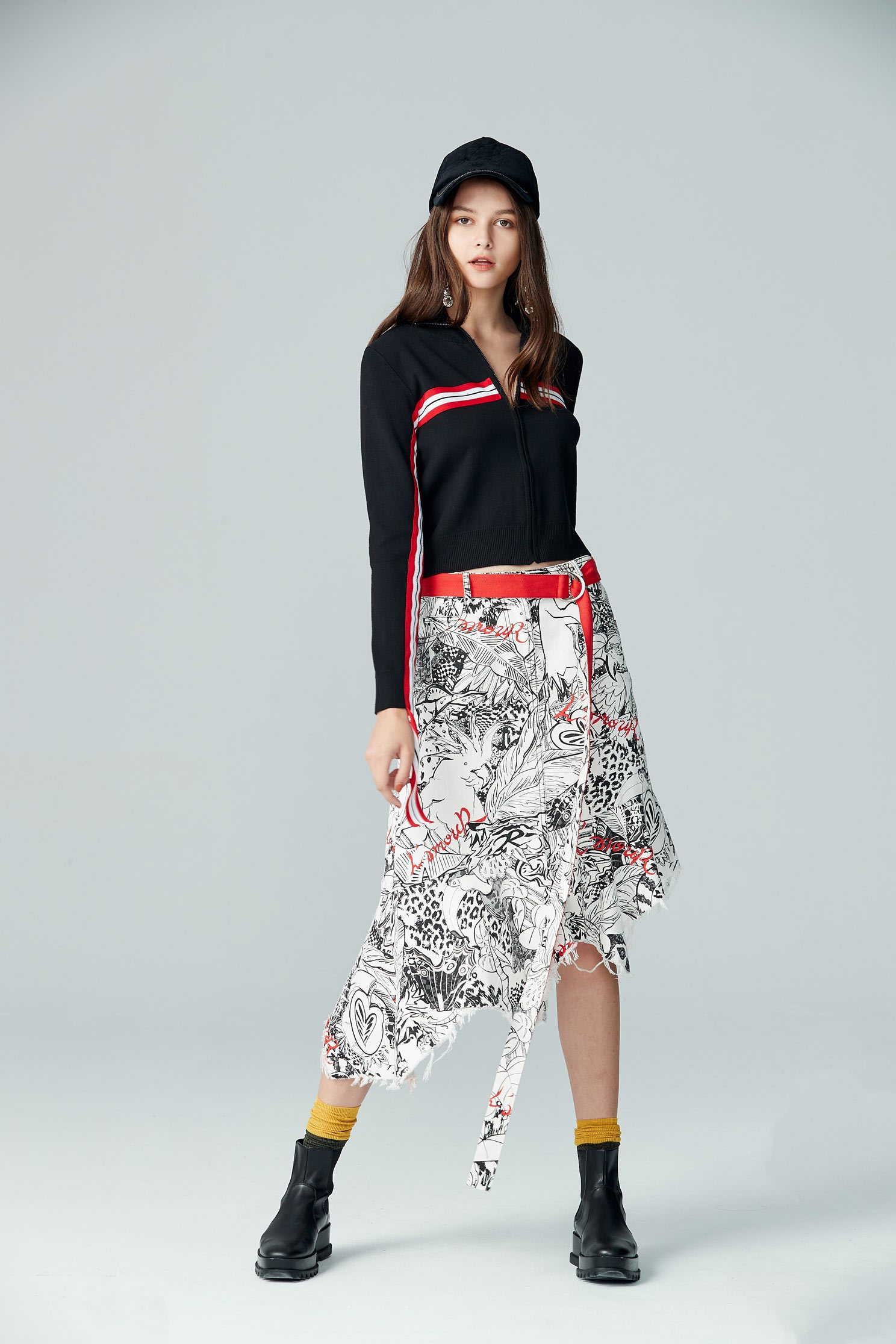 Irregular Fish Tail Middle Length Skirt,longskirt