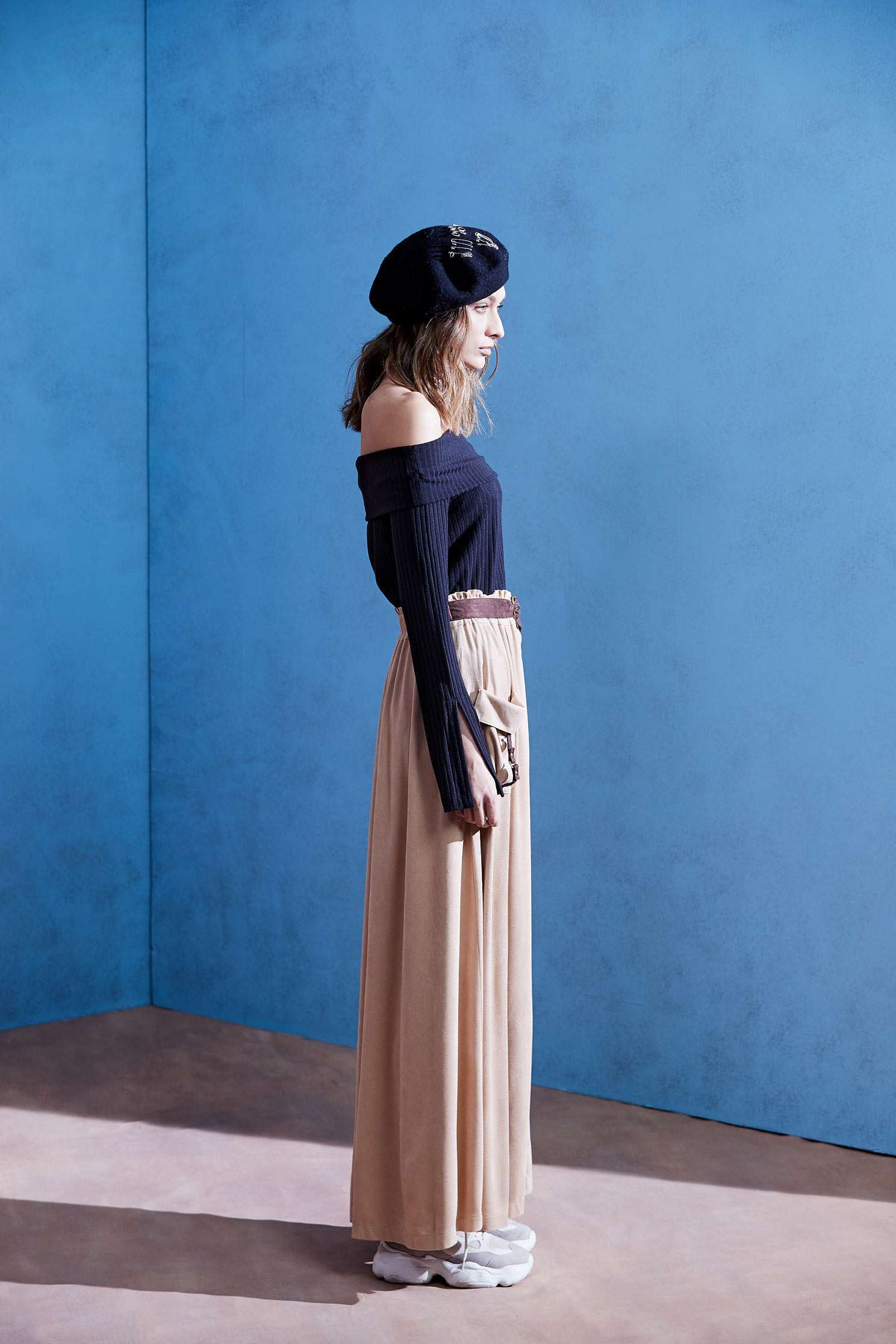 FAUX SUEDE skirt,Long Skirt,Air Signs