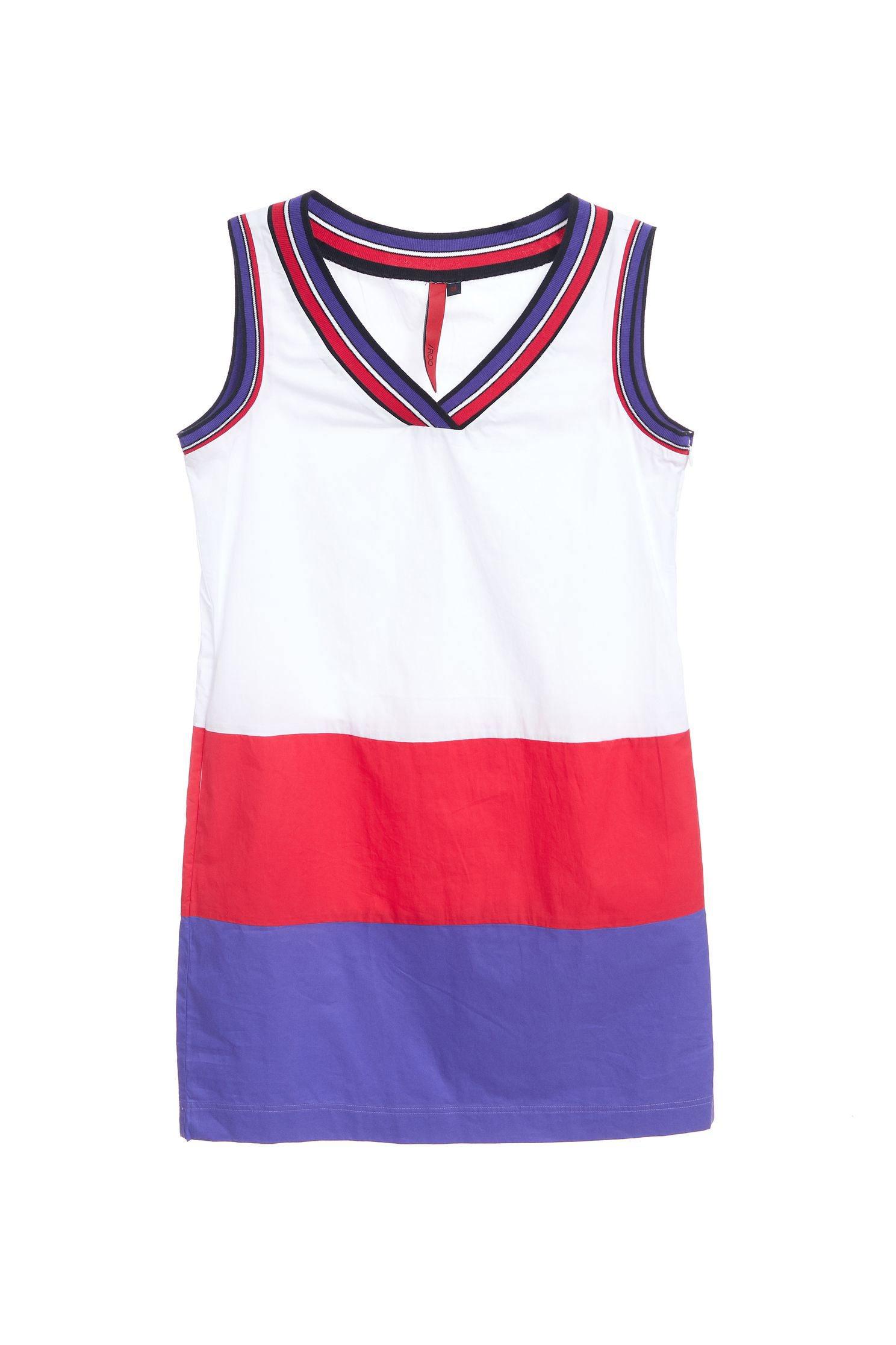 Color matching V-neck popular design sleeveless dress,v-neckdress,dress,casualdress,sleevelessdress,whitedress,vest