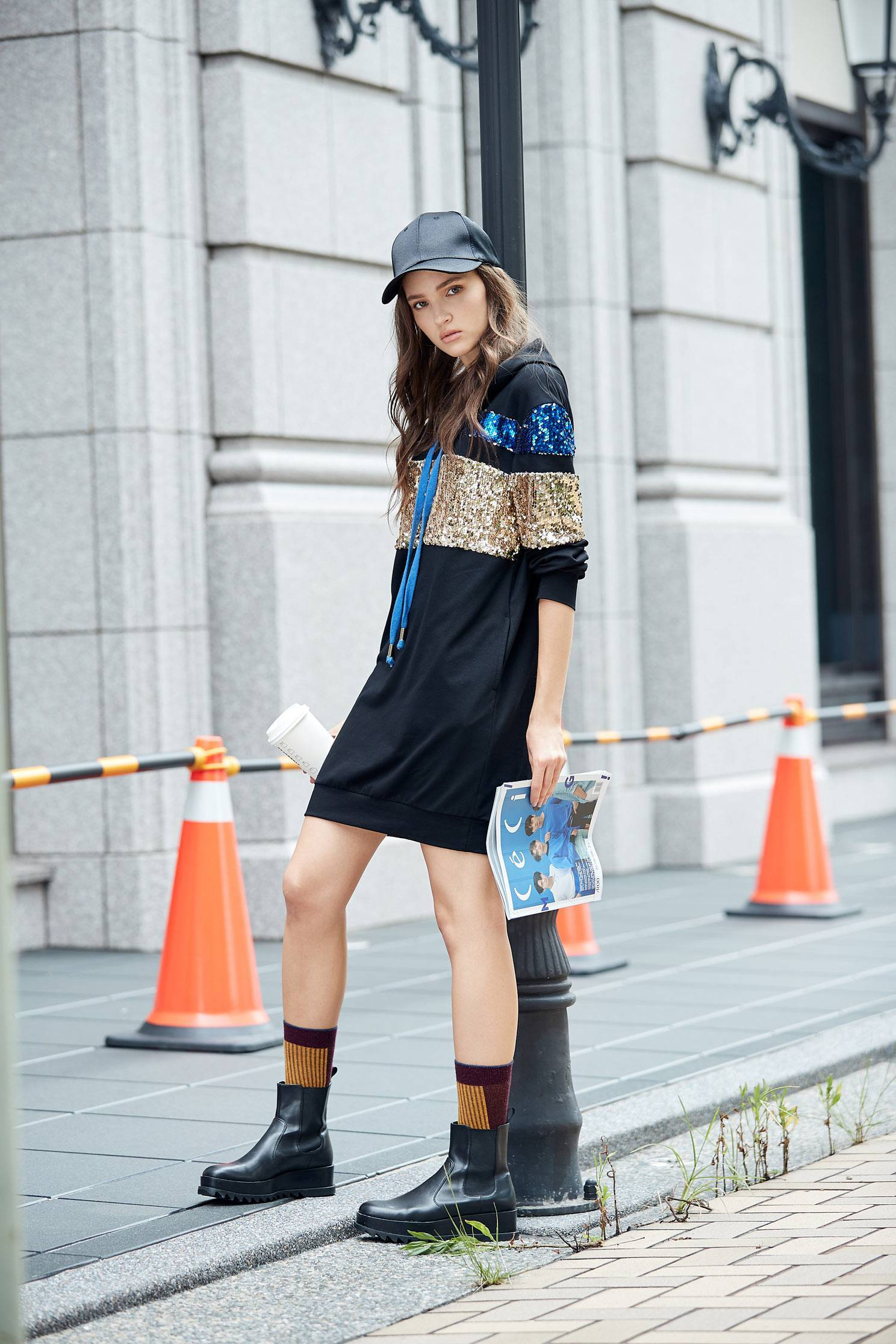 Sequin Shirt Long Sleeve hoodie dress,dress,longsleevedress