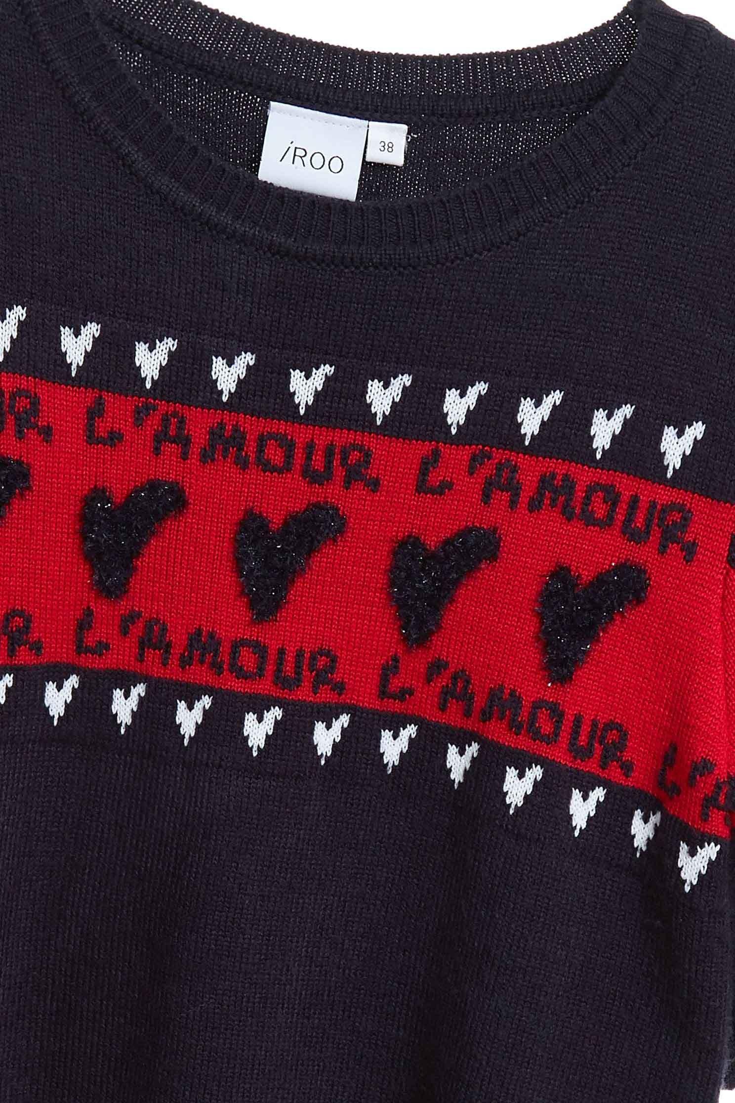 Short-sleeved patterned knitwear,newyearred,shortsleevetop,knitting,knittedtop,knittedtop