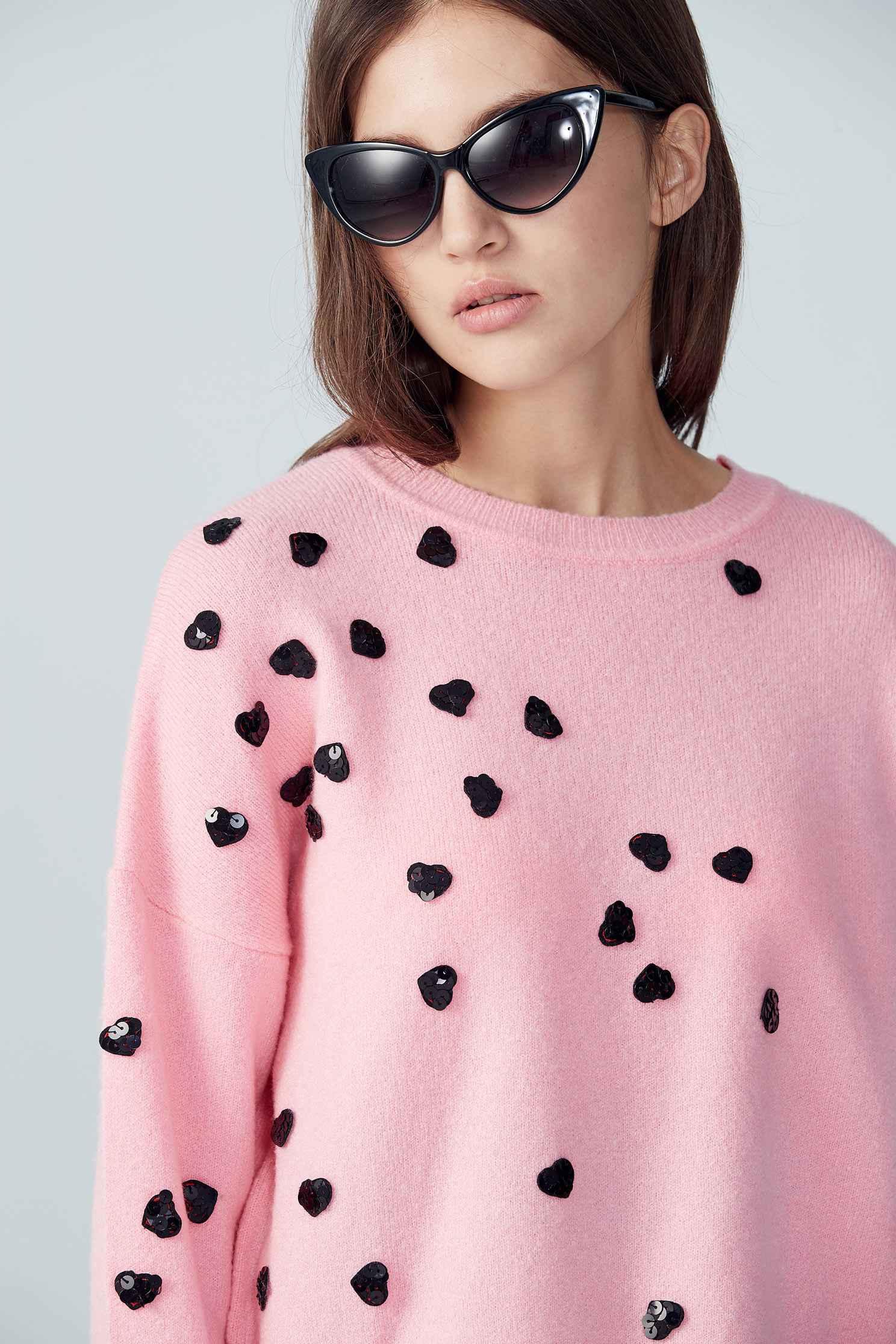 Fashion grace pink top,top,longsleevetop