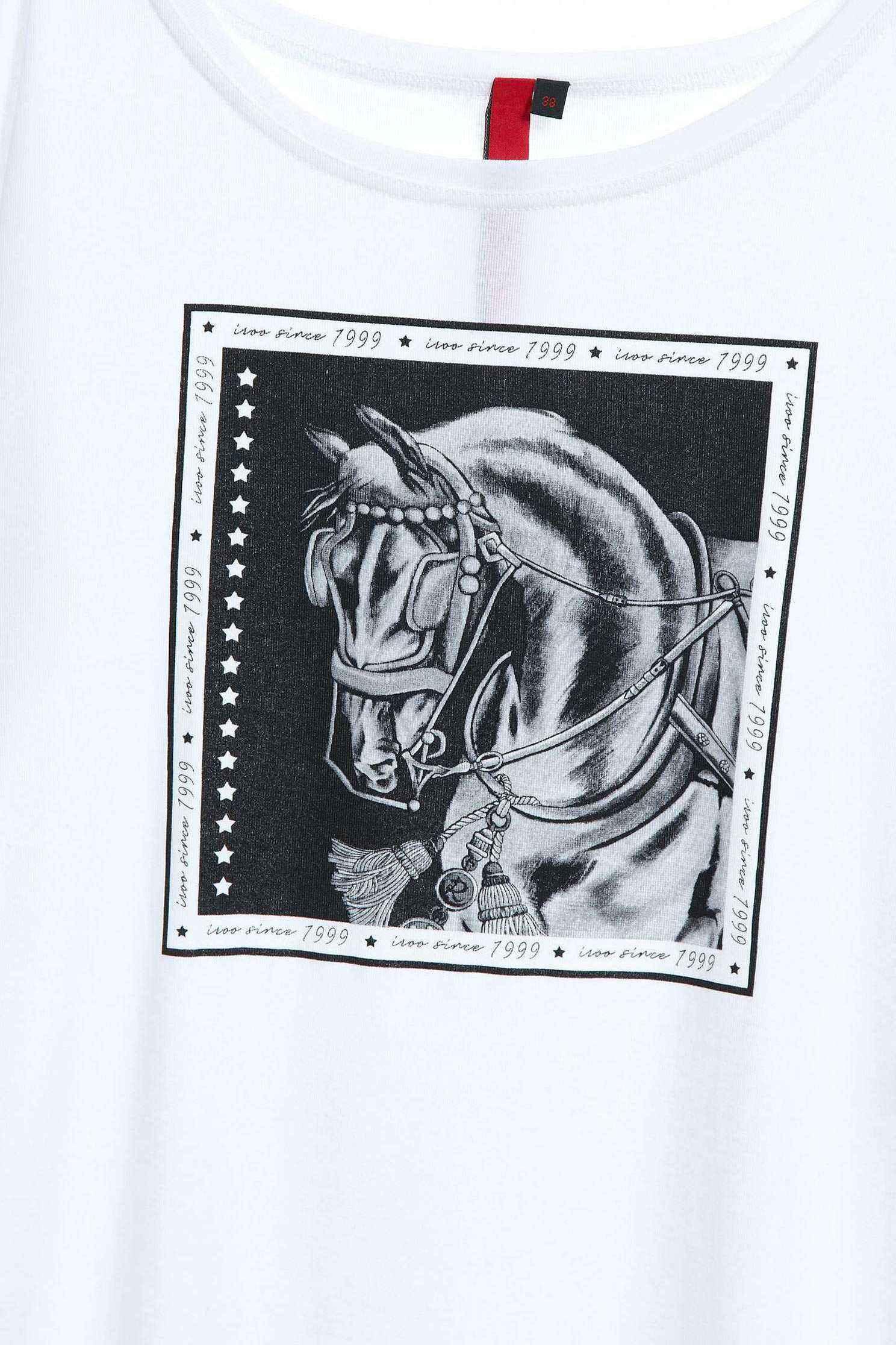 Printed long-sleeved T-shirt,T-Shirt,T恤,圓領上衣,白色上衣,Long top,長袖上衣
