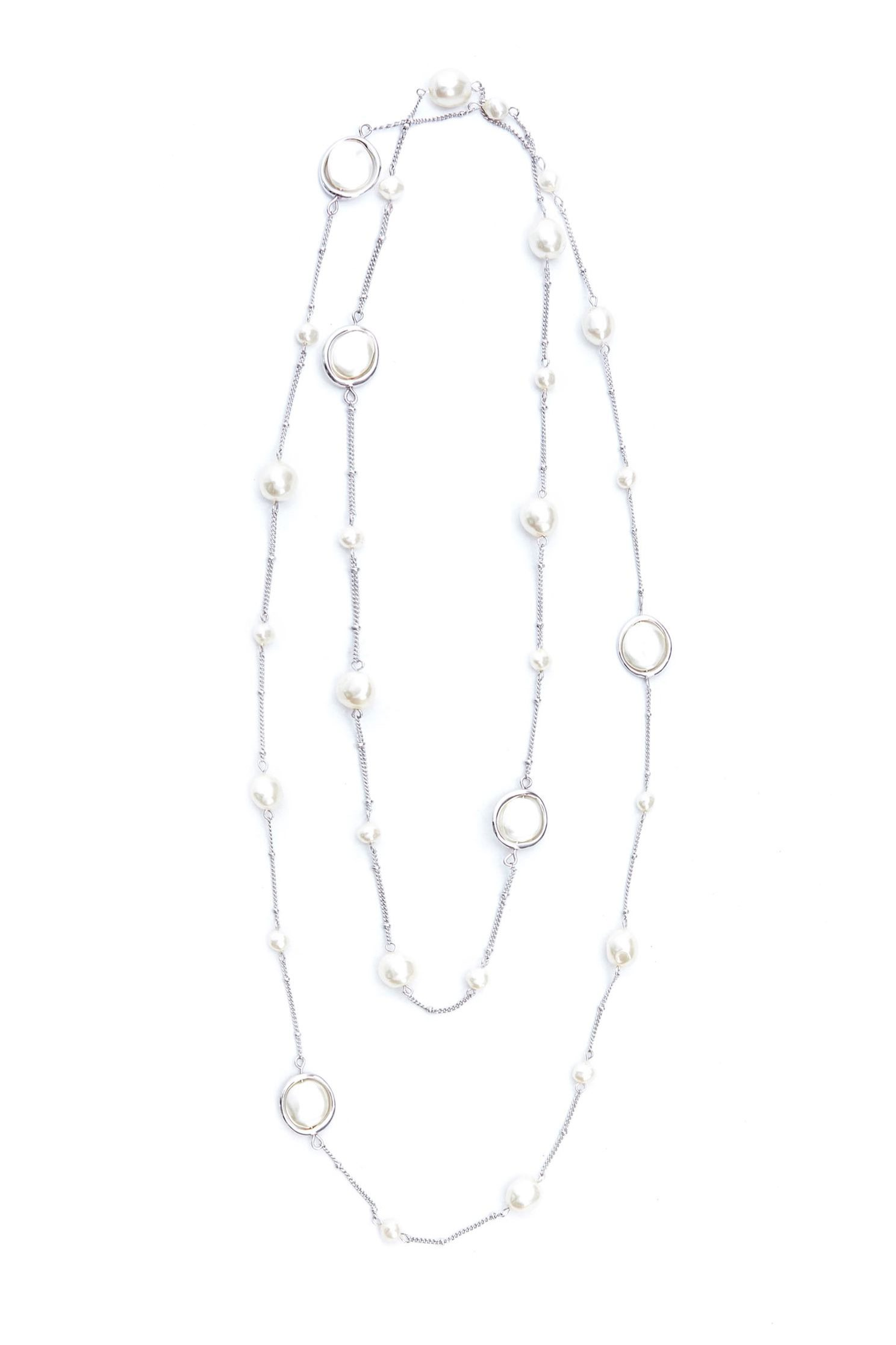 Irregular Pearl Long Necklace,Necklace,Accessories