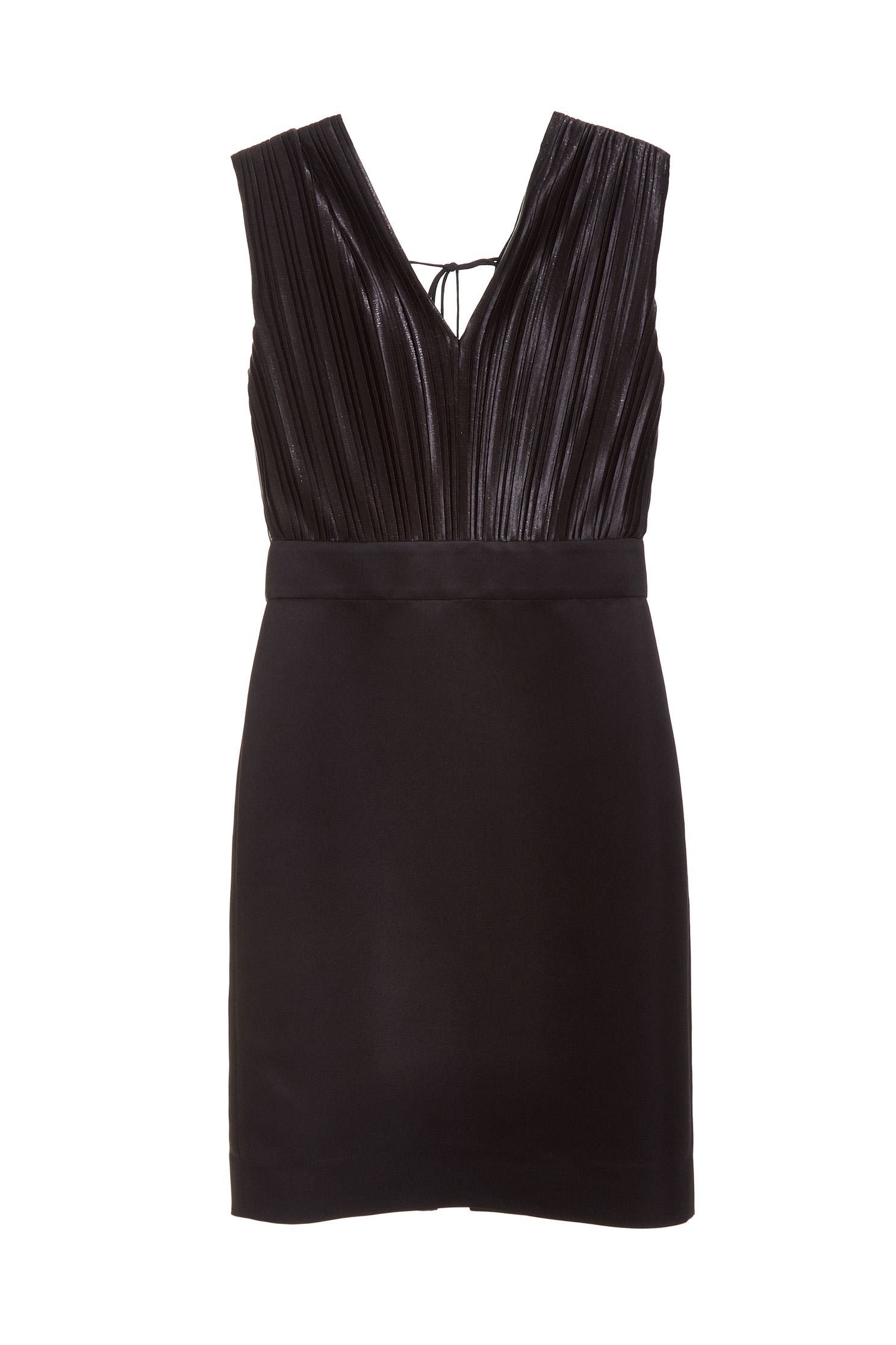 Elegant and slim fashion dress,V-neck dress,小禮服,無袖洋裝,Black dress