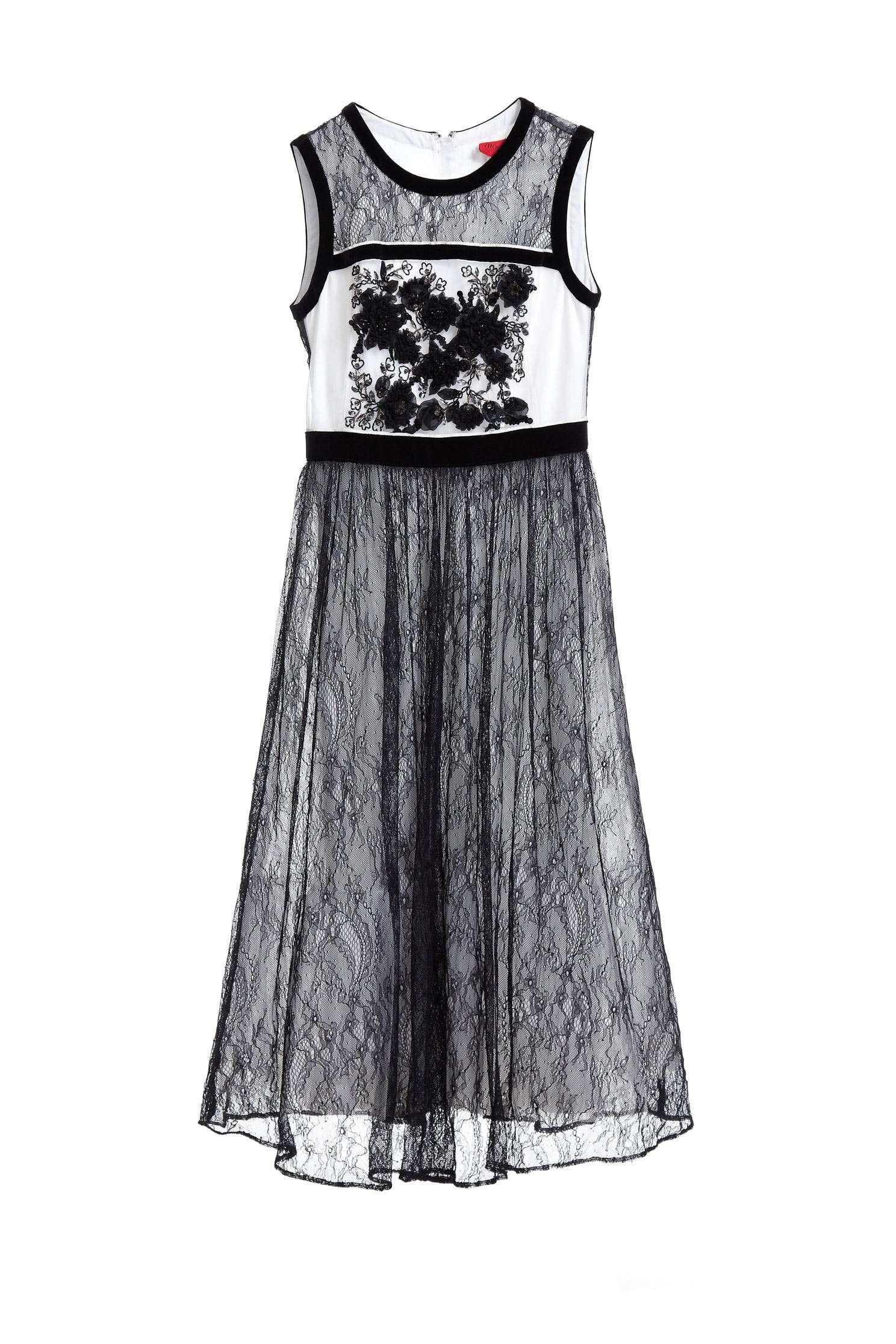 Graceful flowers emroidery dress,embroidery,embroiderddress,cocktaildress,sleevelessdress,eveningwear,embroidered,lace,lacedress,perspectivedress,blackdress