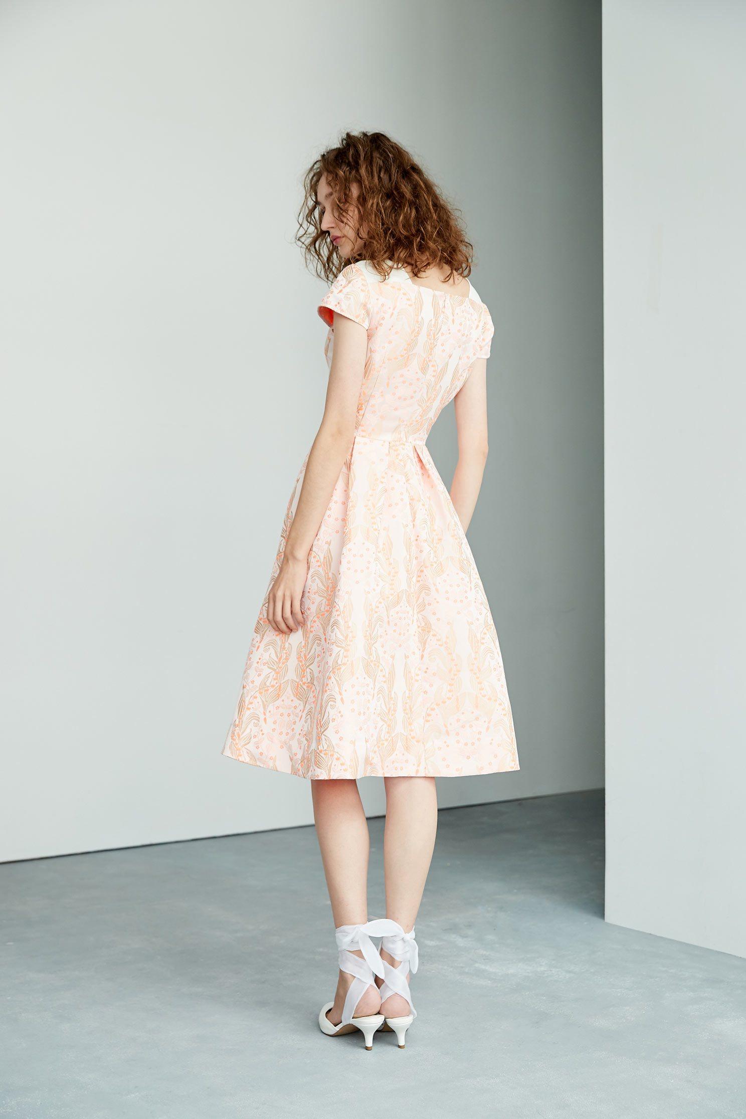 Vintage floral dress,shortsleevedress,onepiecedress
