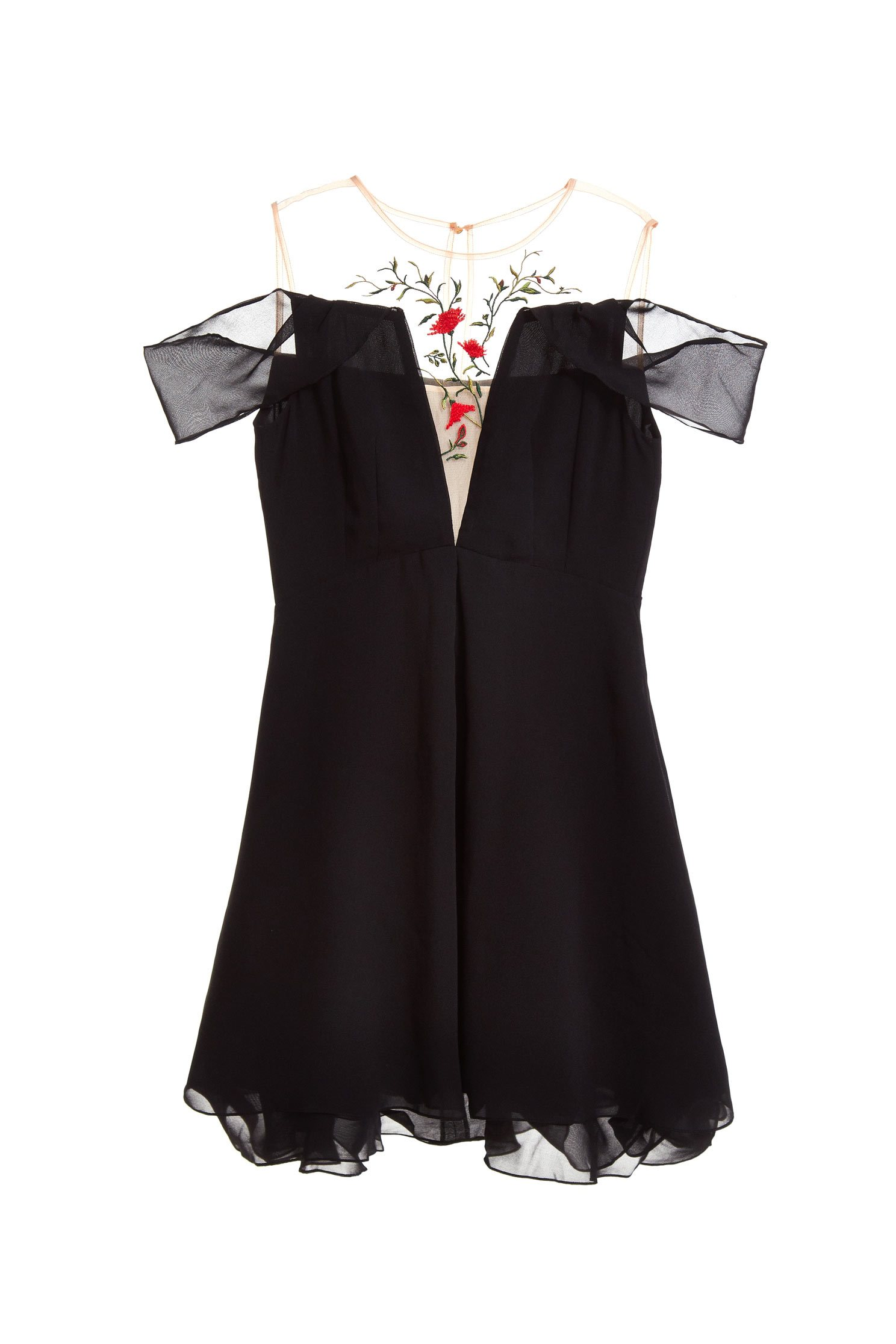 Translucent pattern gorgeous dress
