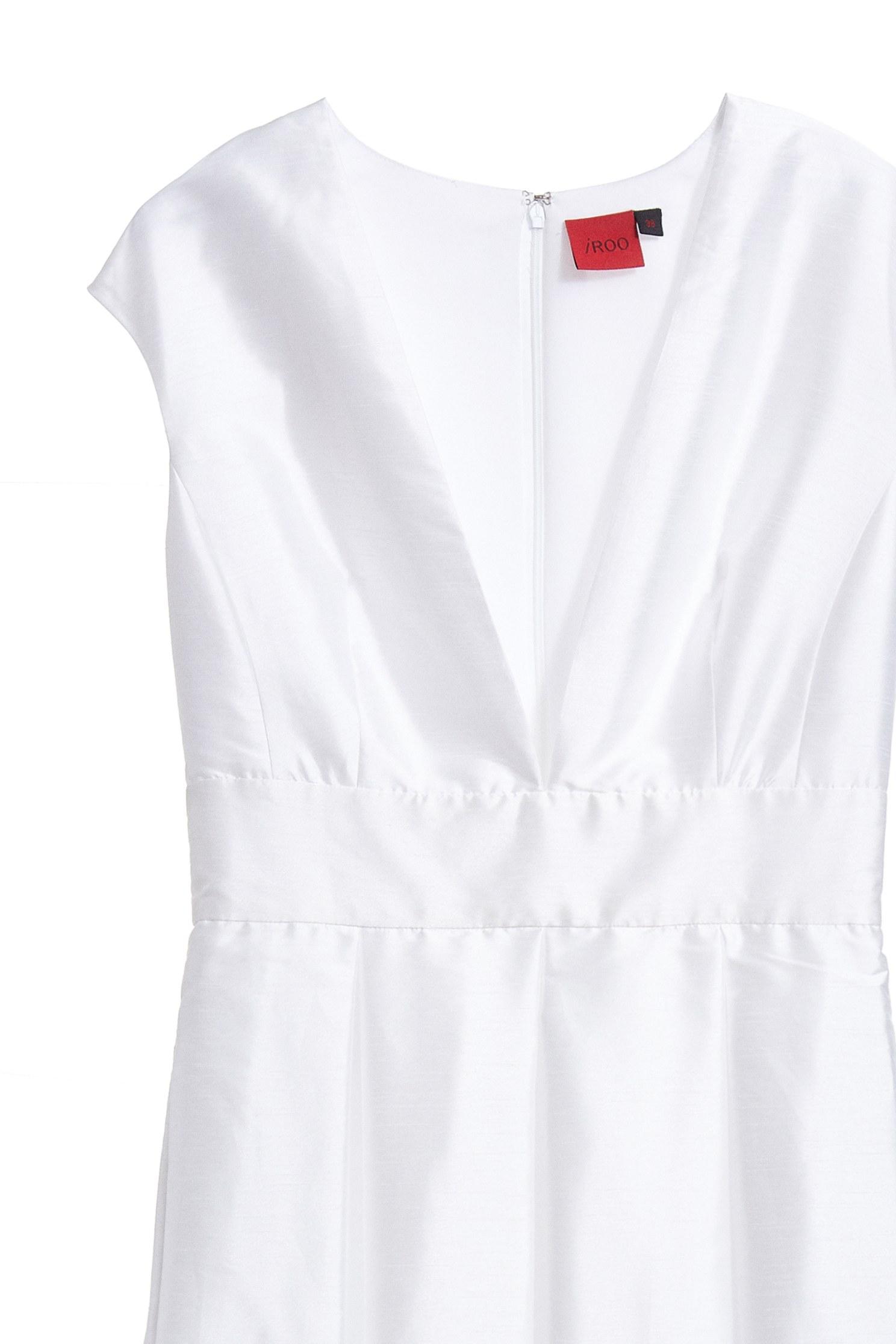 Luxury satin V neck dress,V-neck dress,Cocktail Dress,無袖洋裝,White dress,Evening Wear,Long dress