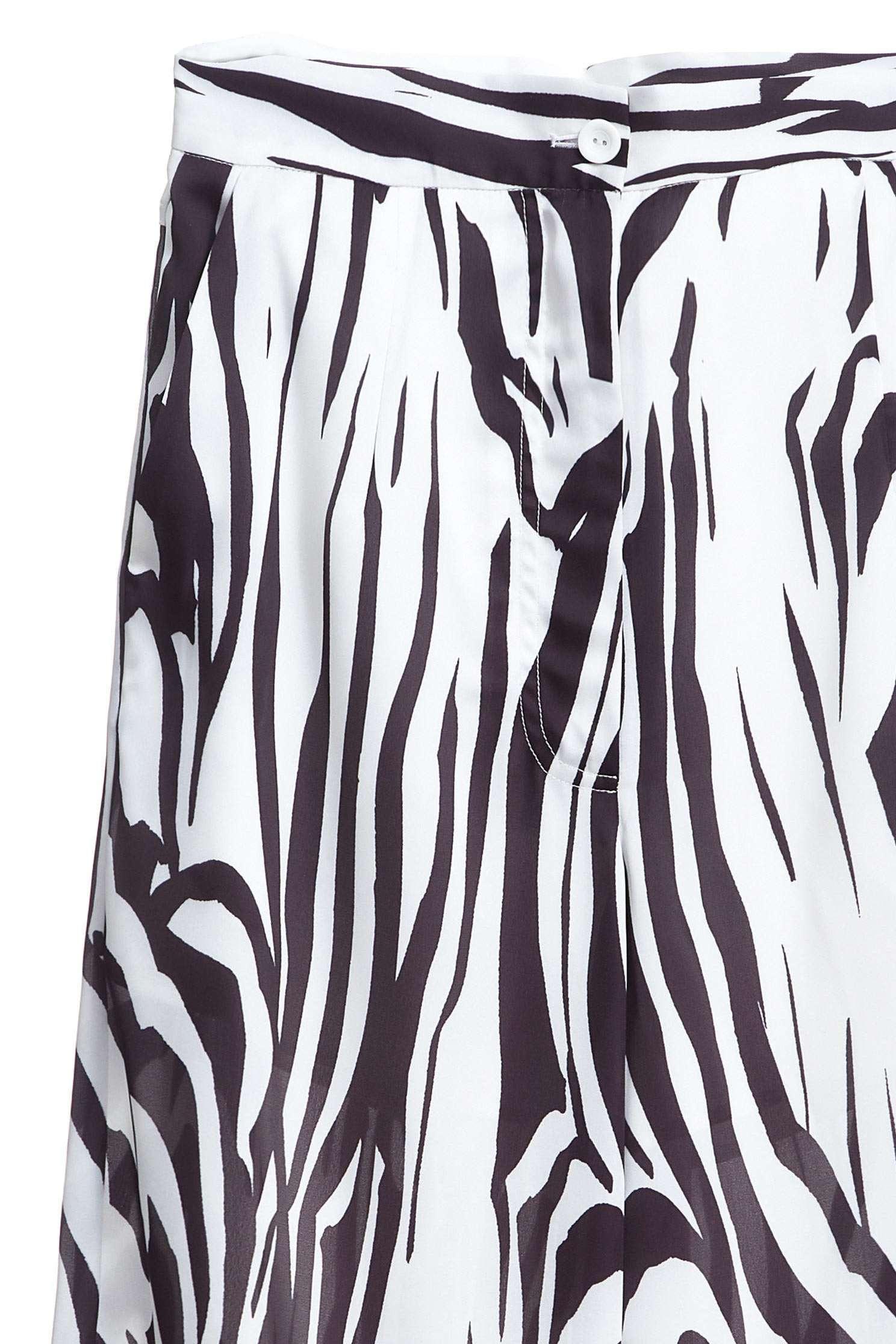 Zebra pattern culottes,culottespants,pants,pants,wasthin