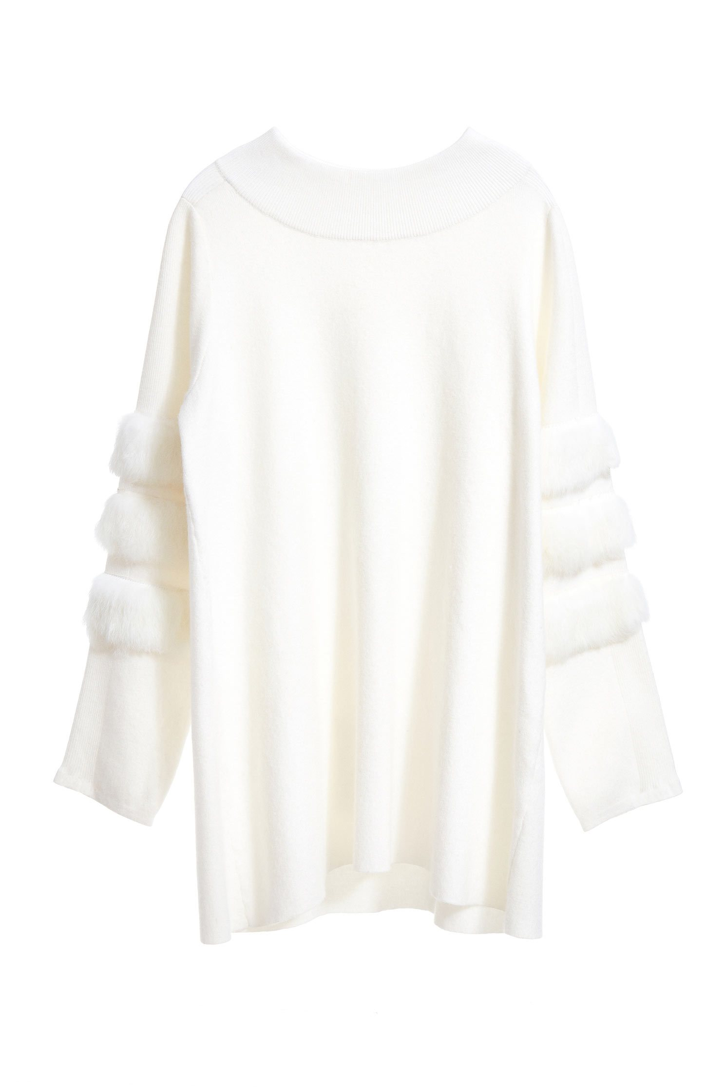 Different material stitching knit long-sleeved tops,top,whitetop,knitting,knittedtop,knittedtop,longsleevetop