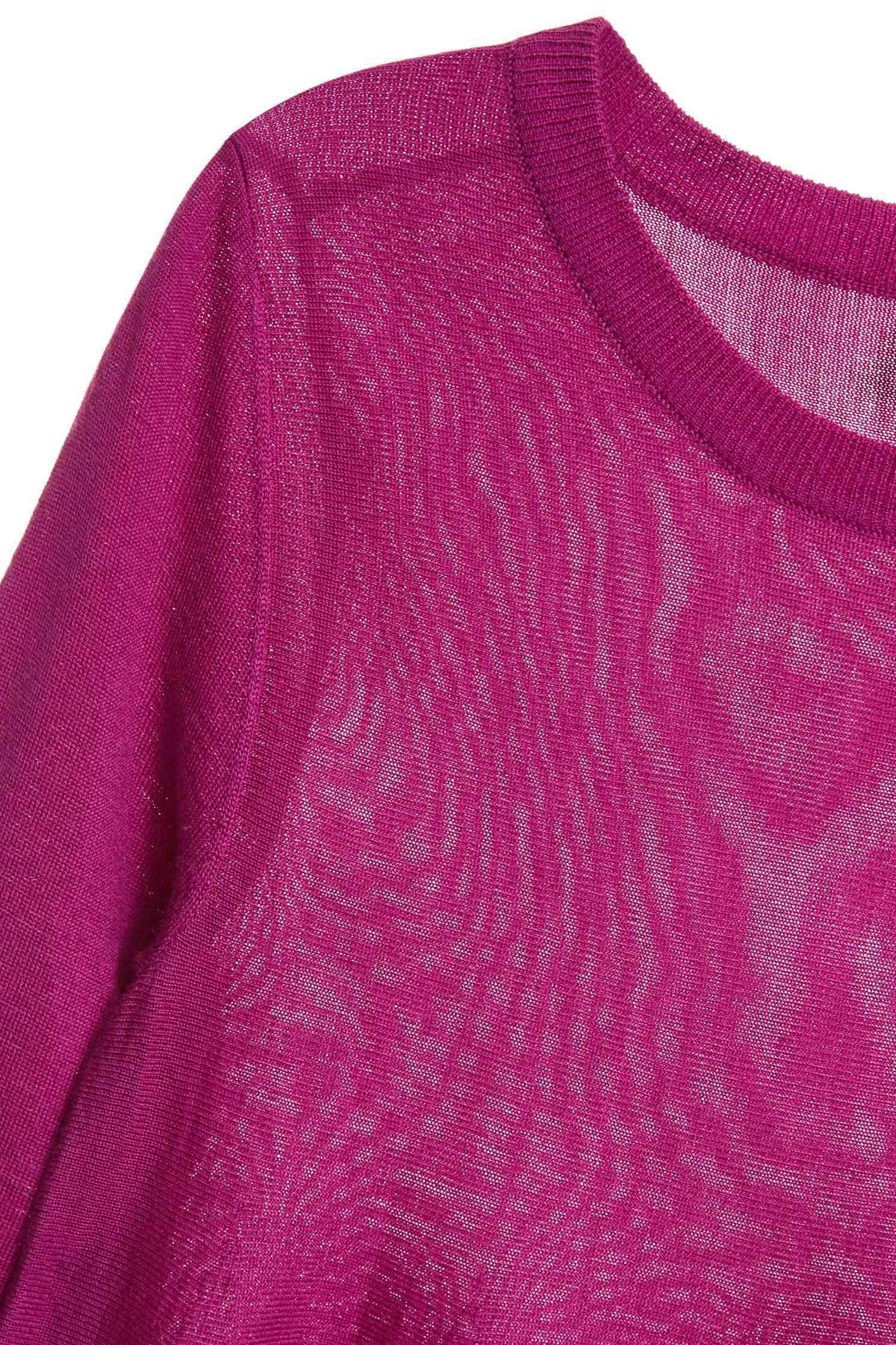 Lotus long-sleeveknit sweater,圓領上衣,Fantasy purple,knitting,Knitted top,Knitted Top,長袖上衣