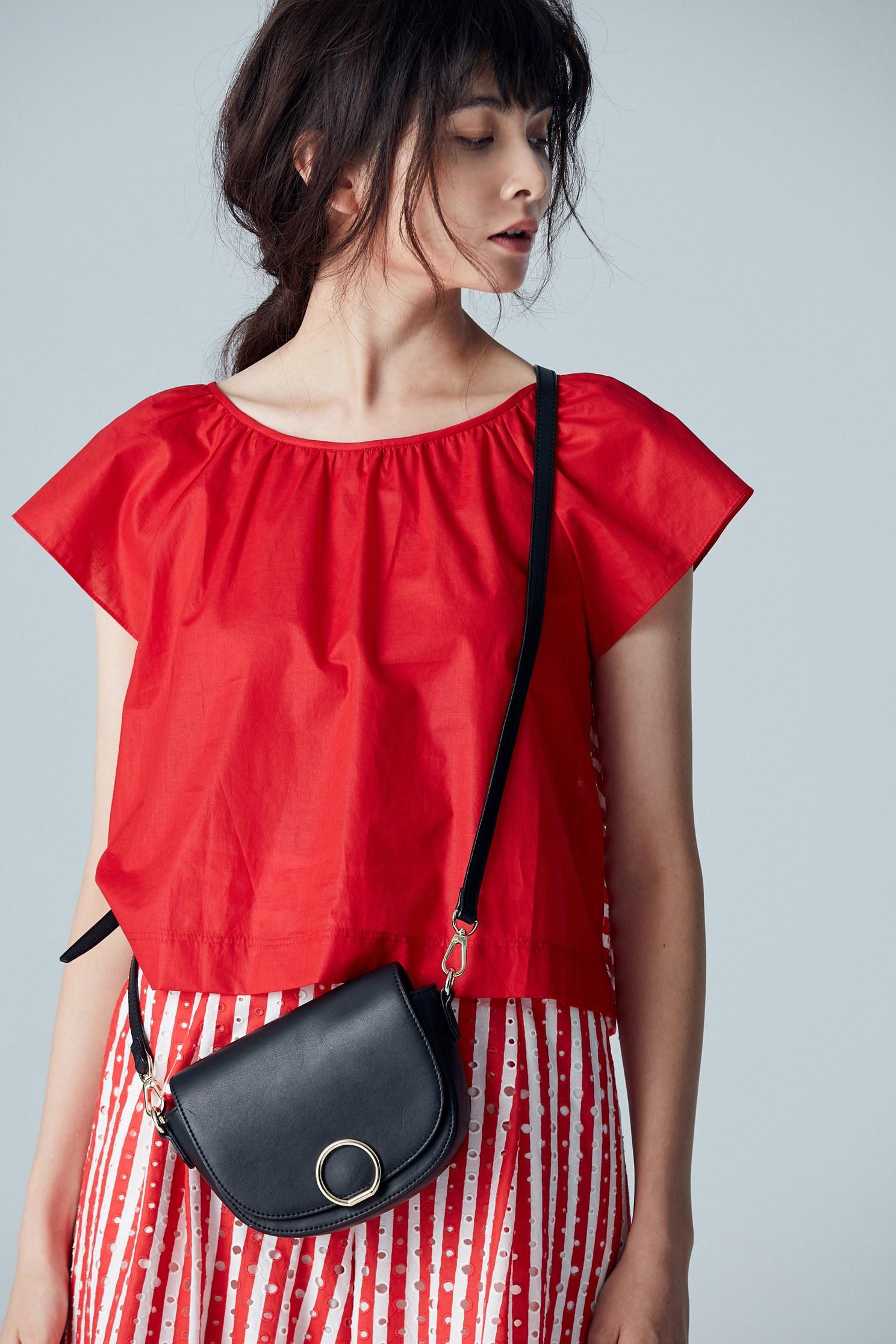 Chic casual cotton top,top,shortsleevetop,cotton