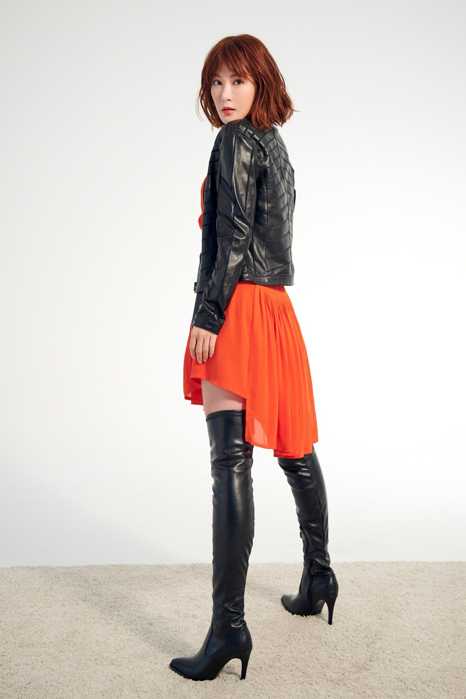 優雅傘擺經典設計無袖洋裝,u-neckdress,dress,sleevelessdress