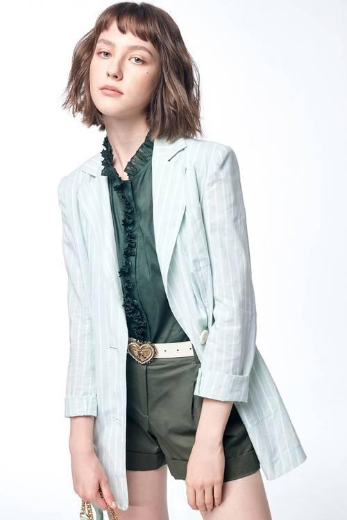 Light green suit jacket