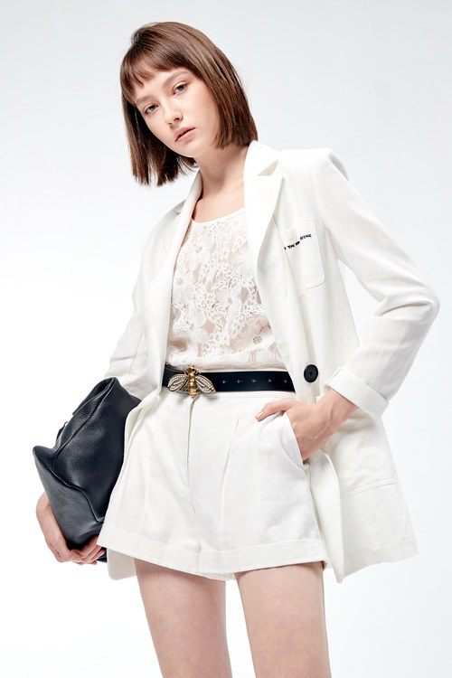 White hemp suit jacket