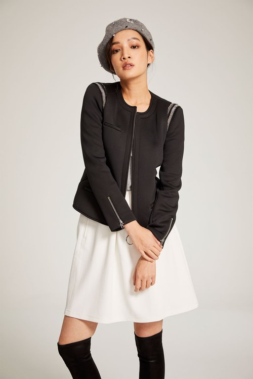 Space cotton embossed coat