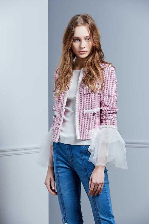 Pink Flower Short Coat
