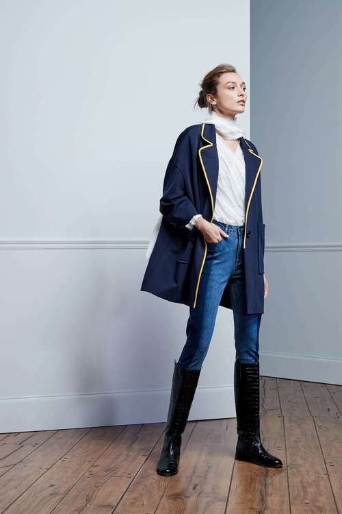 Navy OVERSIZED coat