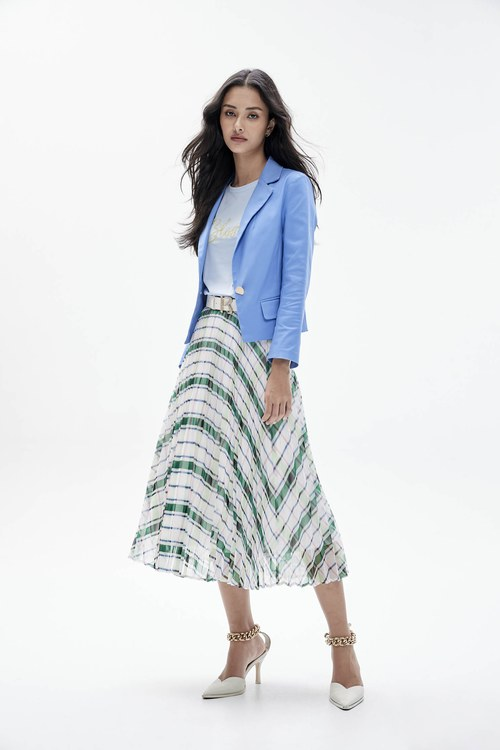 Sky blue short suit jacket