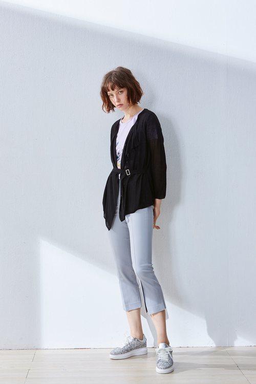 Opened fashion knit jacket