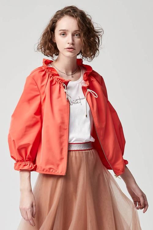 Collar wavy toss jacket