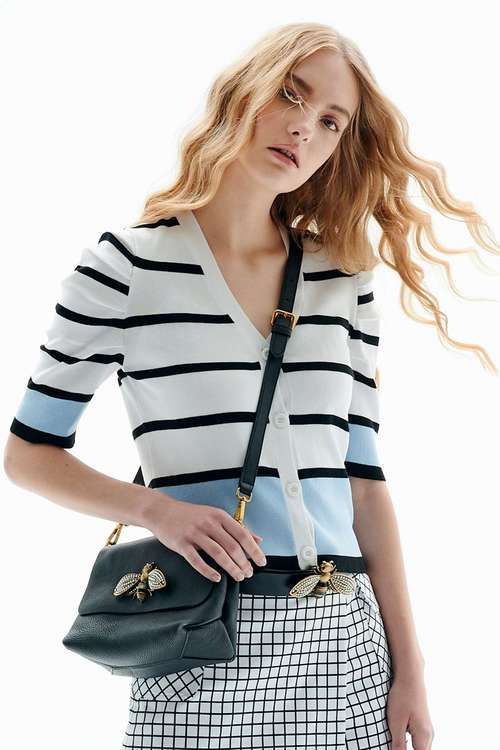 Striped knitted jacket