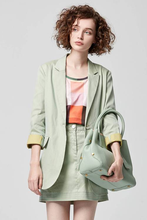 Lake green suit coat
