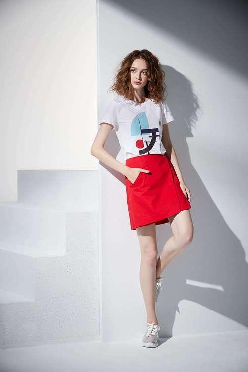 Single color skirt