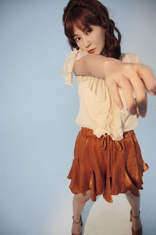 V-collar ruffle set(skirt)