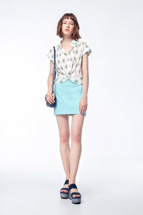 Blue-green decorative line design skirt