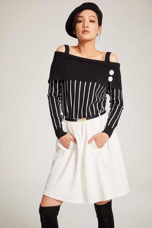 Ivory white A-line skirt