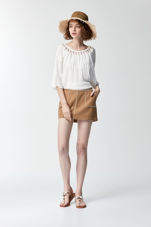 Pearl pocket skirt