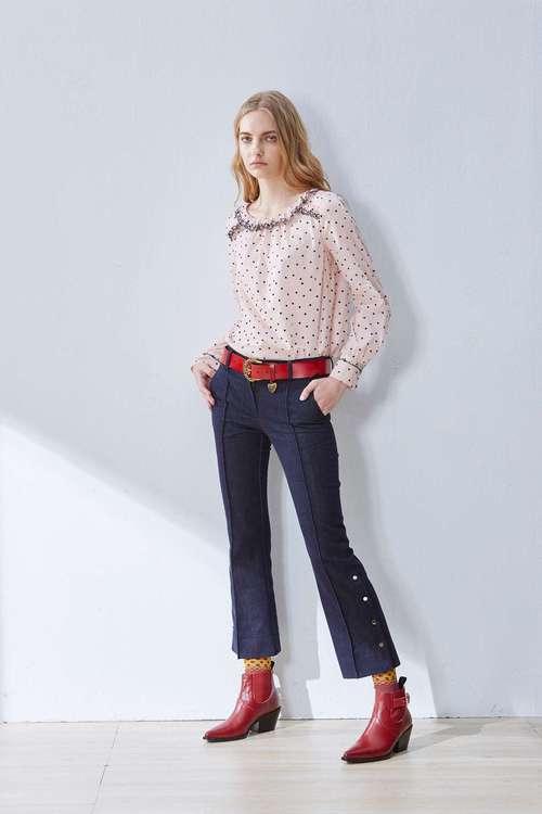 Elegant slim fashion trousers