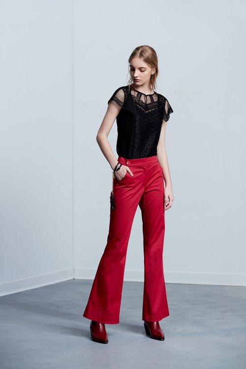 High waist slim classic design long pants