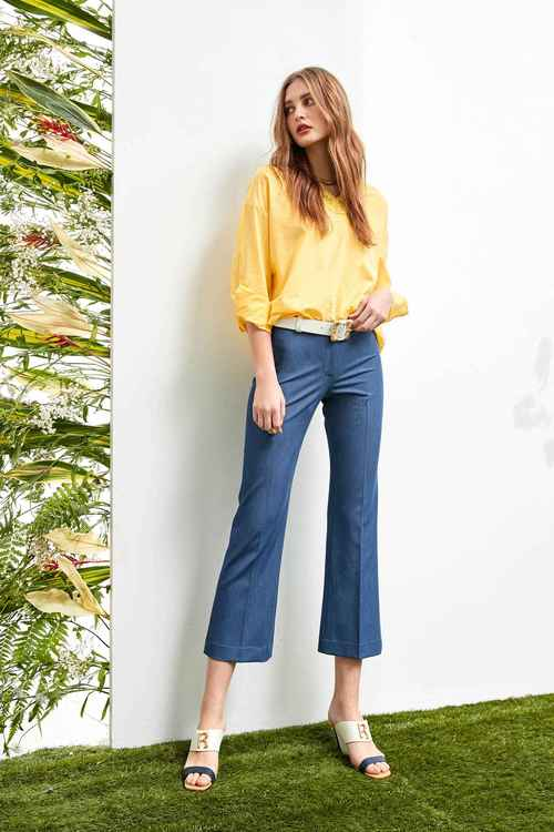 Flare trim trousers