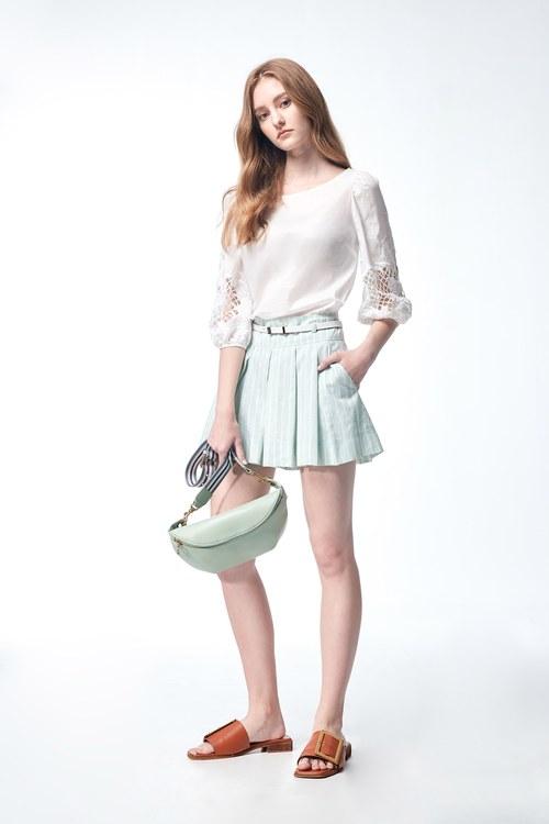 light green trouser skirt