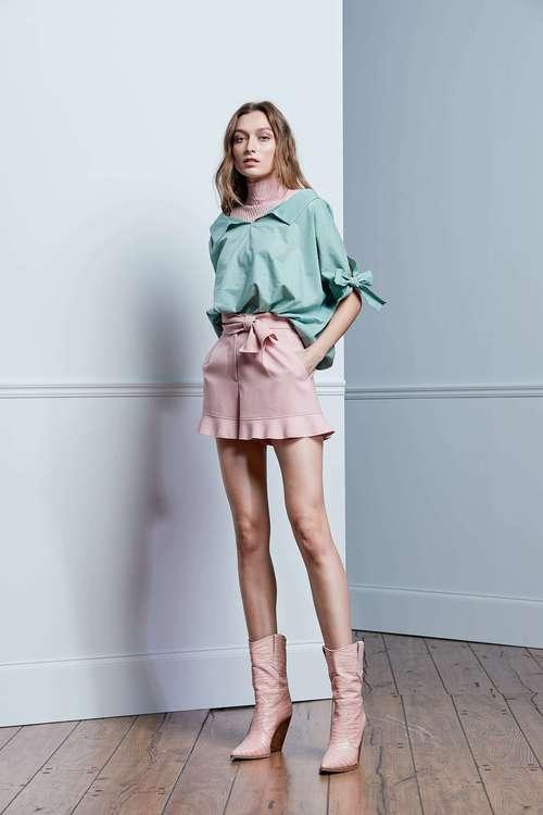 Pink Tie Shorts