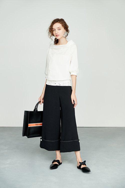 Class white culottes