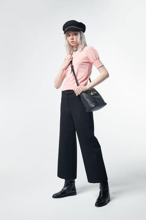 Plain wide pants
