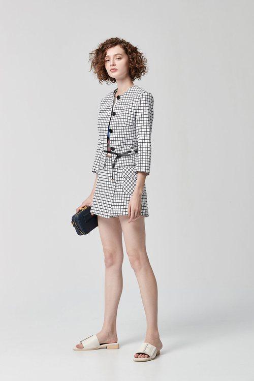 Little square trouser skirt